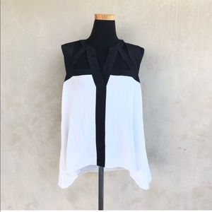 BcbgMaxAzria silk cutout blouse